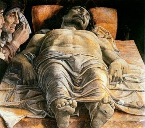 Lamentation over the Dead Christ, by Andrea Mantegna (1431-1506)