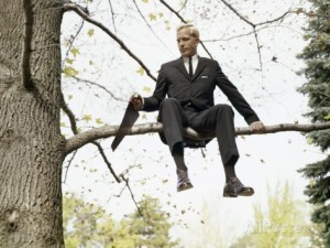 h-armstrong-roberts-1960s-man-in-tree-sawing-off-the-branch-he-is-sitting-on