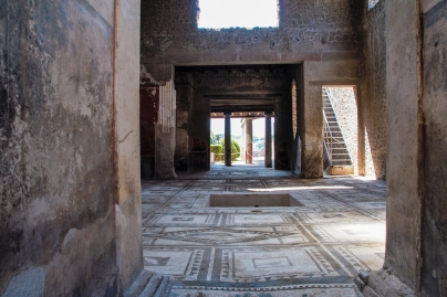 Atrium of a villa in Pompei archeological site